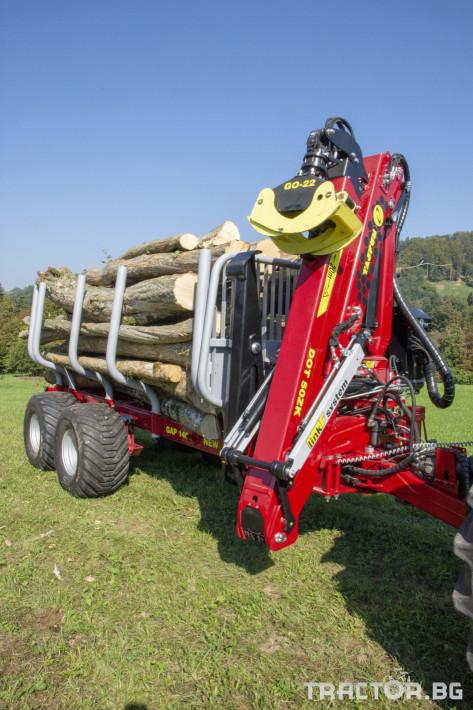 Машини за дърводобив Tajfun Горско ремарке + кран GAP 140 0 - Трактор БГ